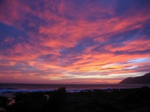 Sunset from our home in Island Bay, Wellington